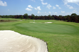 Hole 6 on the course at The Majors Golf Club in Palm Bay